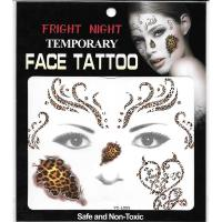 kids tattoo waterproof halloween full face tattoo sticker
