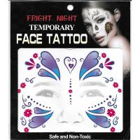 younger girls party temporary full face tattoo sticker