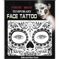 black tattoo sticer temporary full face tattoo sticker for boys and girl