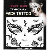 black lace eye tattoo sticker full face black tattoo sticker for adult
