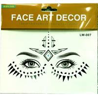 LW-007 Party Fashion Custom Design Full Face Temporary personalized Face Tattoo