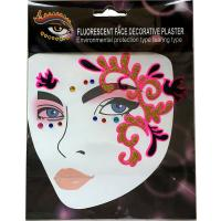 FST003 Ladys party sexy dark pink glitte face decoration sticker