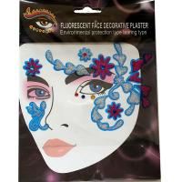 FST004 New fashions Ladys party sexy dark blue glitte face decoration sticker