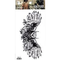 HM1147 Waterproof temporary eagle back tattoo sticker ladys waterprint fake tattoo sticker