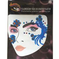 FST011 New fashion lady's party beautifull crystal face sticker