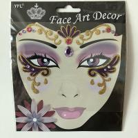 FST013 Face art decoration lady's part face sticker