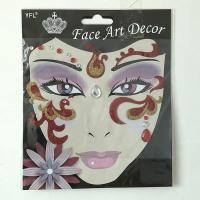 FST018 lady's party Glittle face art sticker