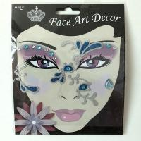 FST014 Face art decoration lady's part face sticker