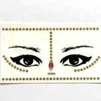DG002 lady's red acrylic diamond Gold eye sticker