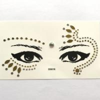 DG018 Face Jewels Rhinestones Adhesive Crystal Face Beauty Glitter gold Art five-star Eye sticker