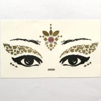DG020 Face Jewels Rhinestones Adhesive Crystal Face Beauty Glitter gold Art five-star Eye sticker
