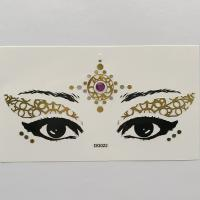 DG022 gold color face decoration sticker Face Jewels Rhinestones Adhesive Crystal Sexy Eyeshadow Gold Makeup Eye Sticker