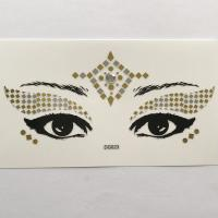 DG023 gold silver color face decoration sticker Face Jewels Rhinestones Adhesive Crystal Sexy Eyeshadow Gold Makeup Eye Sticker