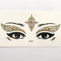 DG025 Egyptian Queen Gold lace design eye face decoration sticker Face Jewels Rhinestones Adhesive Crystal Sexy Eyeshadow Gold Makeup Eye Sticker