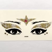 DG026 red acrylic diamond golden white face self-adhesive make up sticker cosplay face sticker
