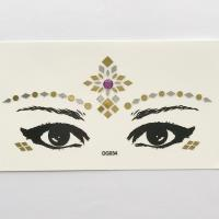 DG034 Purple acrylic diamond golden silver face self-adhesive make up sticker cosplay face sticker