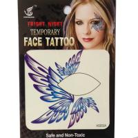 HSE02 single eye tattoo left and right Temporary wing eye tattoo sticker eye rock