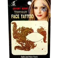 HSE03 waterproof single eye tattoo left and right brown Seaweed Temporary eye tattoo sticker