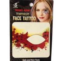 HSE05 party fashion waterproof single eye tattoo left and right dark red black speckle temporary eye tattoo sticker