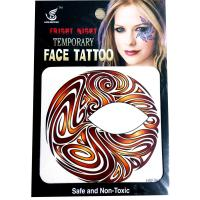 HSE06 New fashion night part Brown red whirlpool 8x8CM boy and girls single eye tattoo sticker