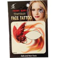 HSE07 New idea fashion night part orange butterfly 8x8CM girls left and right single eye tattoo sticker