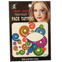 HSE012 8X8cm Night party special color circle temporary single eye tattoo sticker