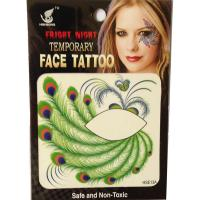 HSE013 HSE11 8X8cm Night party fashion green peacook feather temporary single eye tattoo sticker