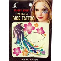 HSE14 8X8cm Night party special flower peacock feather temporary single eye tattoo sticker