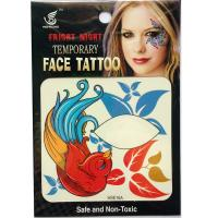 HSE16 8X8cm Night party red birds temporary single eye tattoo sticker