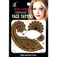 HSE18 8X8cm Night party special flower temporary single eye tattoo sticker