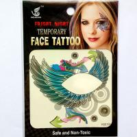 HSE19 8X8cm waterproof temporary wing single eye tattoo sticker