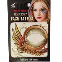 HSE20 8X8cm waterproof temporary special wing left eye and light eye single eye tattoo sticker