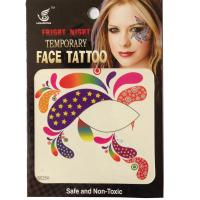 HSE25 8x8cm ladys Party decoration of temporary single eye  tattoo sticker