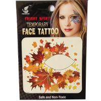 HSE30 8x8cm red maple leaf temporary single eye tattoo sticker