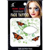 HSE33 8x8cm fright night temporary face tattoo butterfly greenweed single eye tattoo sticker