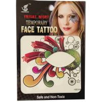 HSE34 8x8cm fright night party temporary face tattoo single eye tattoo sticker