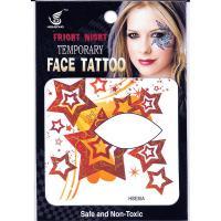 HSE35 8x8cm fright night temporary face tattoo dark red five-star single eye tattoo sticker
