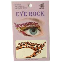 HSA002 dark brown leopard print Night party Eye rock temporary eye tattoo sticker