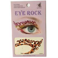 HSA002 dark brown leopard print Night party Eye rock temporary eye tattoo sticker