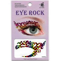 HSA004 color lattice pattern ladys party waterproof temporary eye tattoo sticker