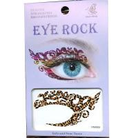HSA005 Lady's party Leopard pattern left and right eye temporary tattoo sticker