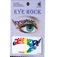 HSA006 younger girls Red blue green yellow temporary eye tattoo sticker