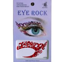HSA008 left and right eye temporary tattoo sticker
