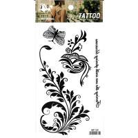 HM1168 new fashion black leaf butterfly body tattoo sticker for women