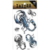 HM060 Boys and men scorpion body art tattoo sticker chest tattoo