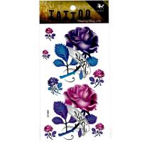 HM064 Big and small rose tattoo sticker