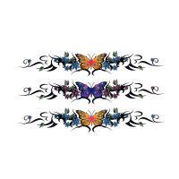 HM091 Butterfly bracelet anklet tattoo sticker