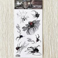 HM099 Halloween spider tattoo sticker