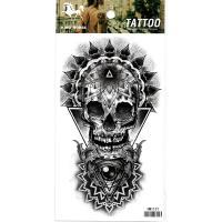 HM1131 Grey skull arm tattoo sticker for men