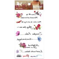 HM1153 mini flower english text tempoary tattoo sticker for girl